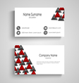 Business card with abstract triangles template vector image vector image