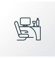 business class icon line symbol premium quality vector image