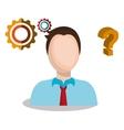 businessman working design vector image