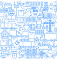cargo line seamless pattern vector image vector image