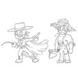 cartoon masked hero strong farmer character set vector image