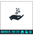 Charity icon flat vector image vector image