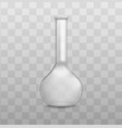 chemistry or pharmacy lab glassware flask vector image