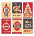 christmas sale banners new year special offers vector image vector image