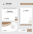 coffee logo calendar template cd cover diary and vector image vector image