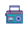 colorful radio equipment to listen music with vector image vector image