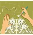 Crochet vector image vector image