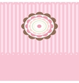 Cute background with small cupcake vector image vector image