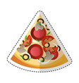 delicious pizza portion icon vector image vector image