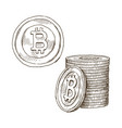 Doodle icons of coins on the isolated white