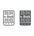 e book line and glyph icon e learning vector image vector image