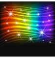 Fantasy abstract rainbow background vector image vector image