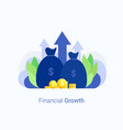 financial investments concept vector image vector image