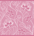 floral lace seamless texture retro victorian vector image vector image