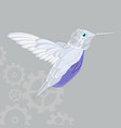 flying hummingbird icon on a grey vector image