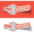 free service labels vector image vector image