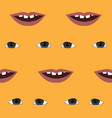 funny pattern with lips and eyes seamless vector image vector image