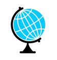Globe Flat icon Earth ball character Planet earth vector image vector image