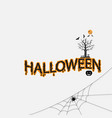 halloween calligraphy abstract iconhalloween vector image