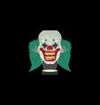 halloween clown costume mask vector image