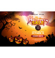 halloween sale banner with pumpkins vector image vector image