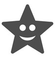 happy star flat icon vector image