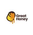 honey logo icon vector image vector image