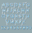 ice blue and white alphabet vector image vector image