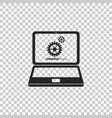 laptop update process with gearbox progress vector image vector image