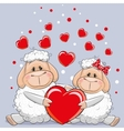 Lovers Sheep vector image