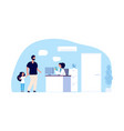 medical assistant concept hospital office father vector image vector image