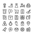 medical health and hospital line icons 8 vector image vector image