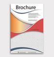 modern geometric business brochure flyer poster vector image vector image