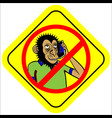 no phone sign vector image