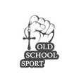 old school sport logo vector image vector image