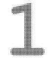 one digit halftone icon vector image vector image