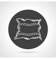 Pillow black round icon vector image