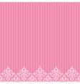 pink frameborder in damask baroque style vector image vector image
