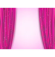 pink theater curtains vector image vector image