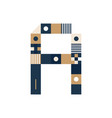 pixel art letter a colorful letter consist of vector image vector image