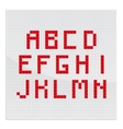 Red Mosaic Alphabet Part One vector image