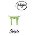 religious sign-shinto vector image vector image