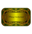 royal floral gold decor in oriental style vector image vector image