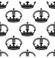 seamless medieval crowns pattern background vector image vector image