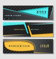 set horizontal futuristic banners vector image vector image