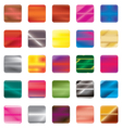 Set of gradient button icons for your design vector image vector image