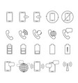 set of telephone icons vector image vector image