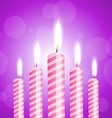 shiny candles vector image