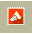 Shuttlecock for badminton sport flat stamp vector image vector image