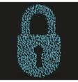 Simple icon of digital lock vector image vector image